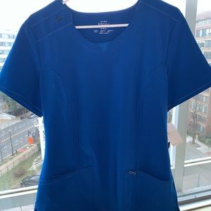 Cherokee Infinity Round Neck Top- Royal Blue- NWT
